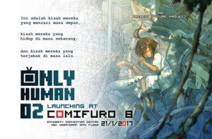 Launching Komik Only Human 2 Karya Mukhlis Nur